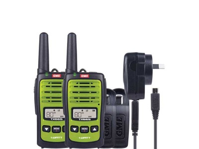 GME TX665TP 1 watt UHF handheld radio (TWIN pack)